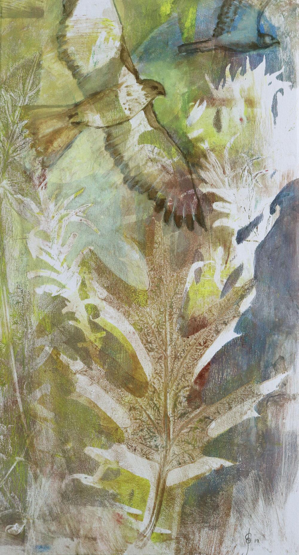 peinture-buses-en-vol-impression-botanique-artiste-peintre-carine-genadry