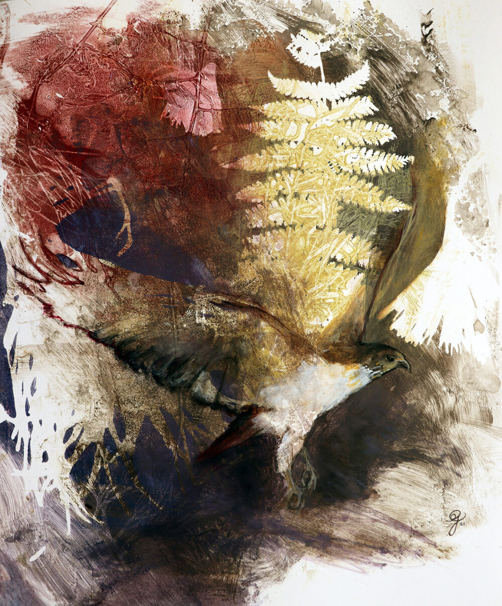 peinture-oiseau-de-proie-impression-botanique-artiste-peintre-carine-genadry