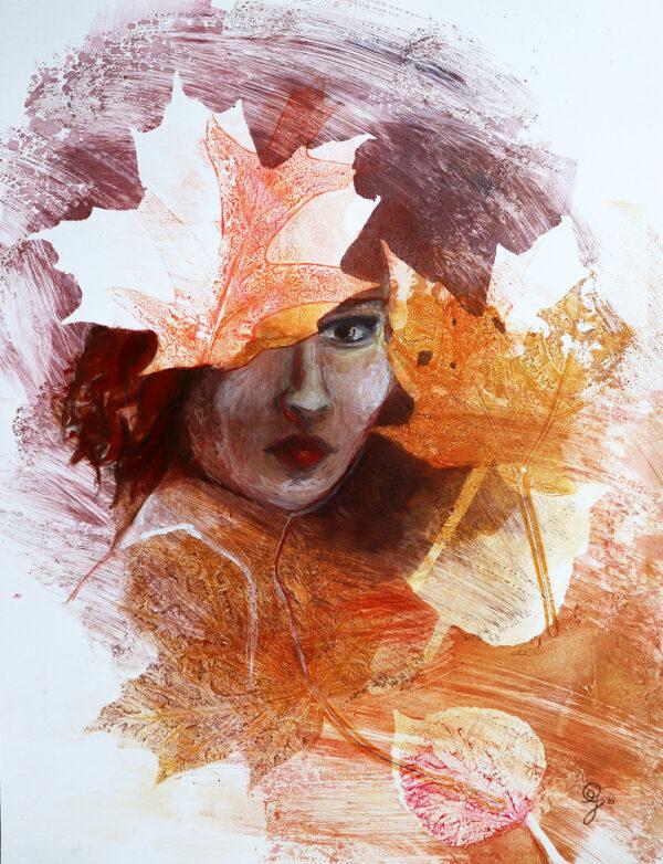 coiffe-automne-peinture-artiste-peintre-carine-genadry