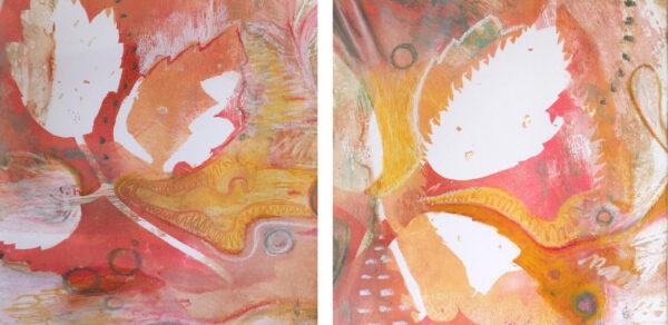 peinture-diptyque-danse-automne-artiste-peintre-carine-genadry