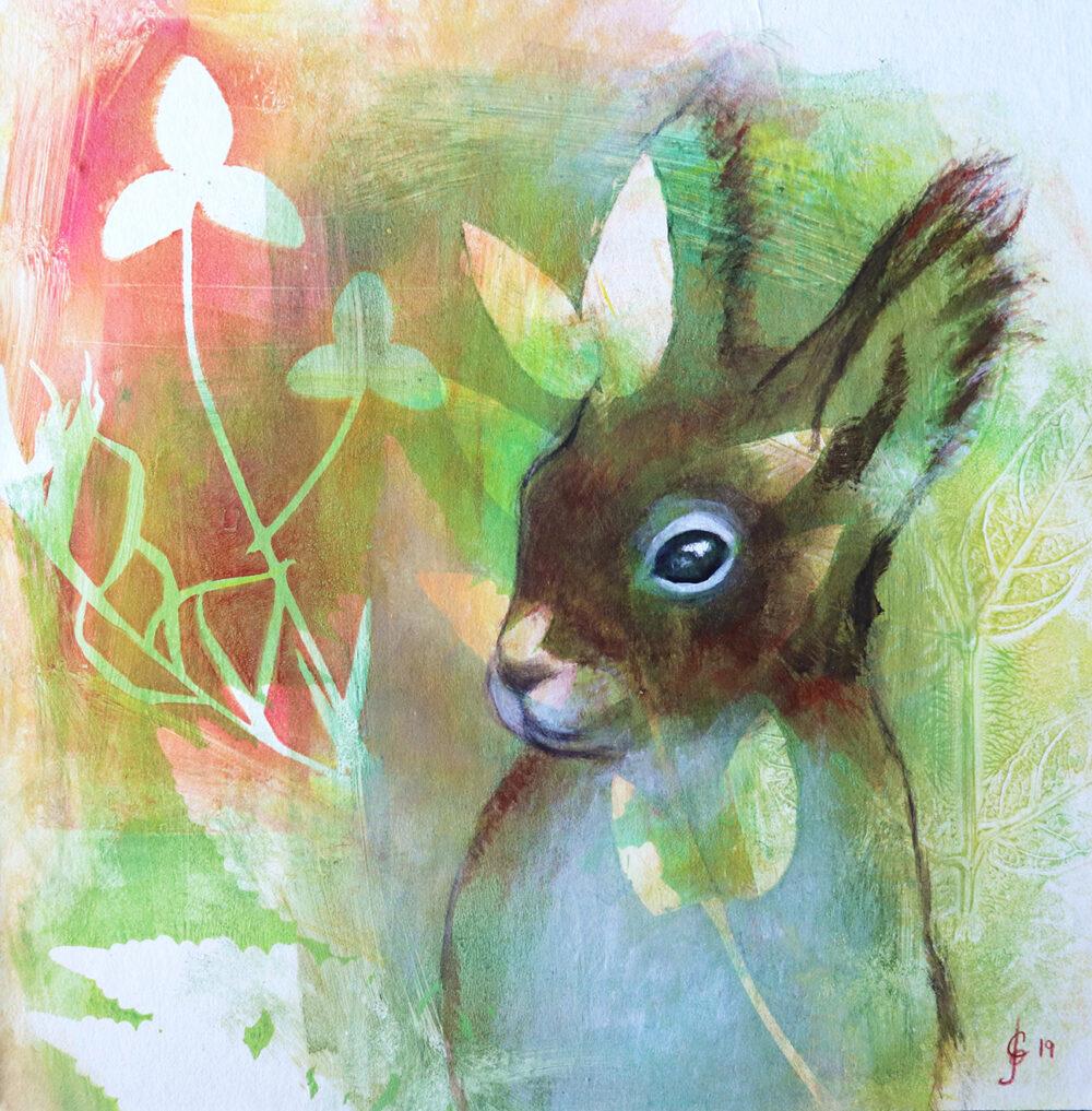 peinture-ecureuil-roux-artiste-peintre-carine-genadry