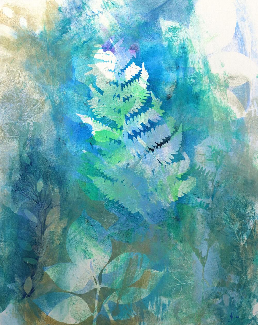 abstrait-botanique-fougere-artiste-peintre-carine-genadry