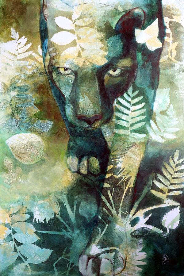 peinture-panthere-jungle-artiste-peintre-carine-genadry