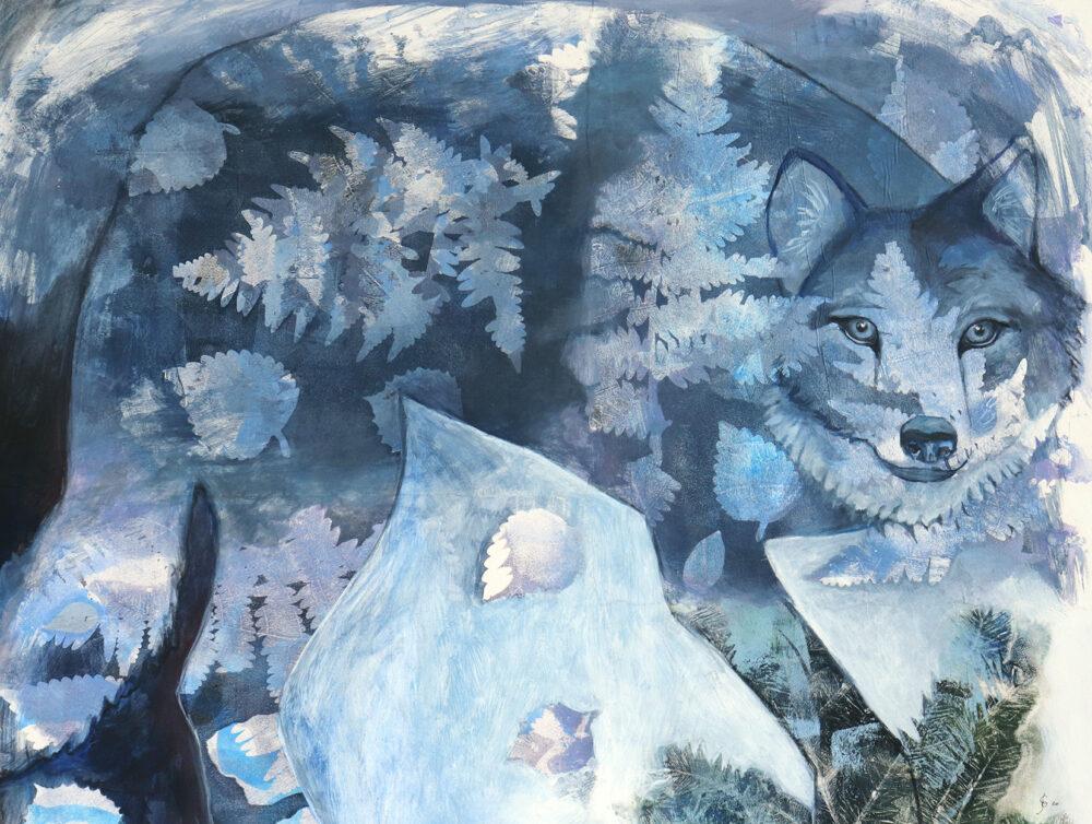 peinture-louve-bleu-artiste-peintre-carine-genadry