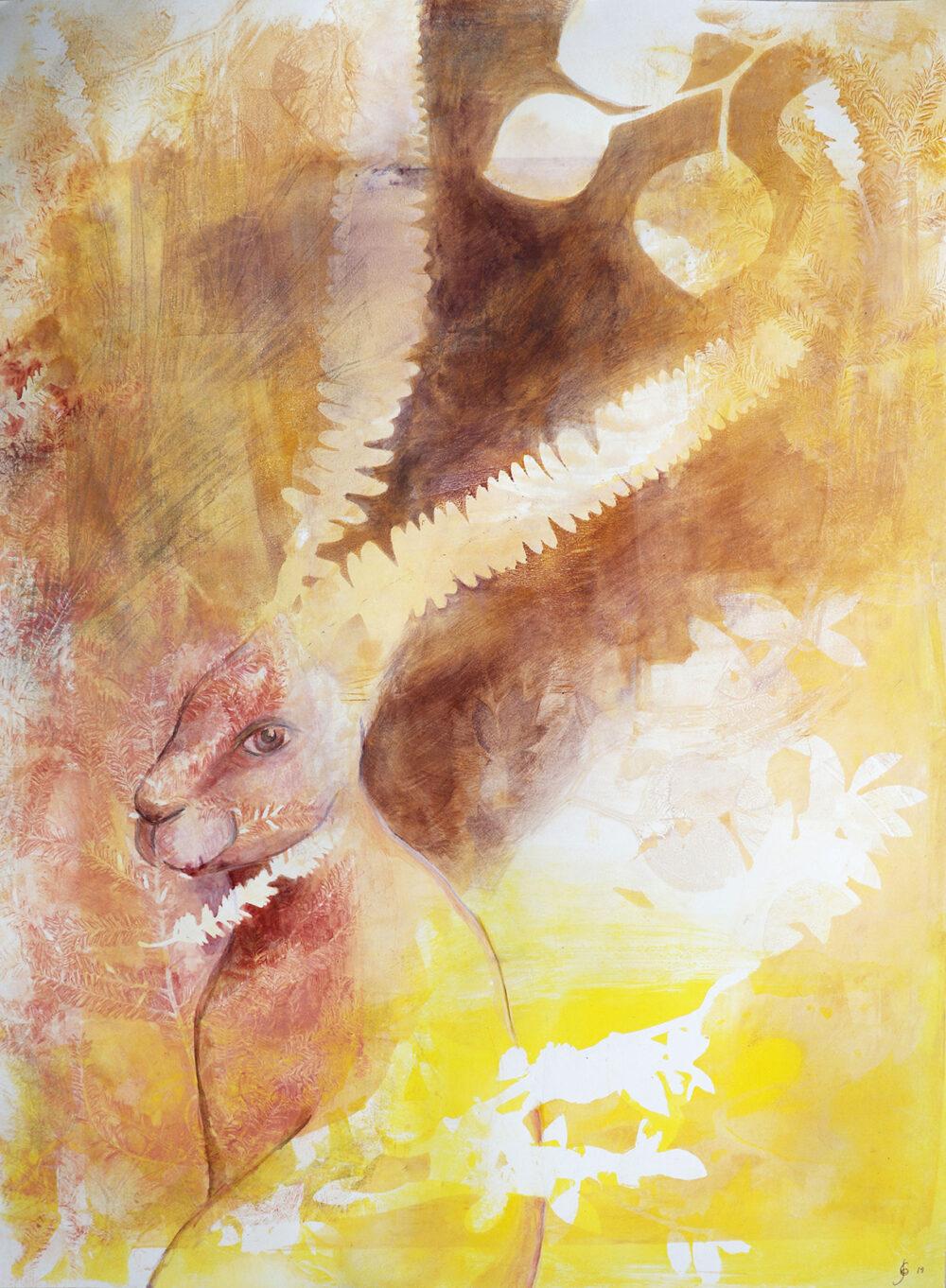 peinture-lievre-profil-artiste-peintre-carine-genadry