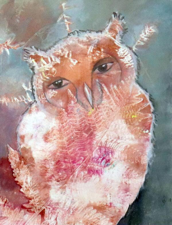 peinture-hibou-portrait-artiste-peintre-carine-genadry