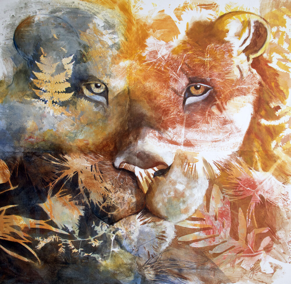 peinture-lion-portrait-phoebus-artiste-peintre-carine-genadry