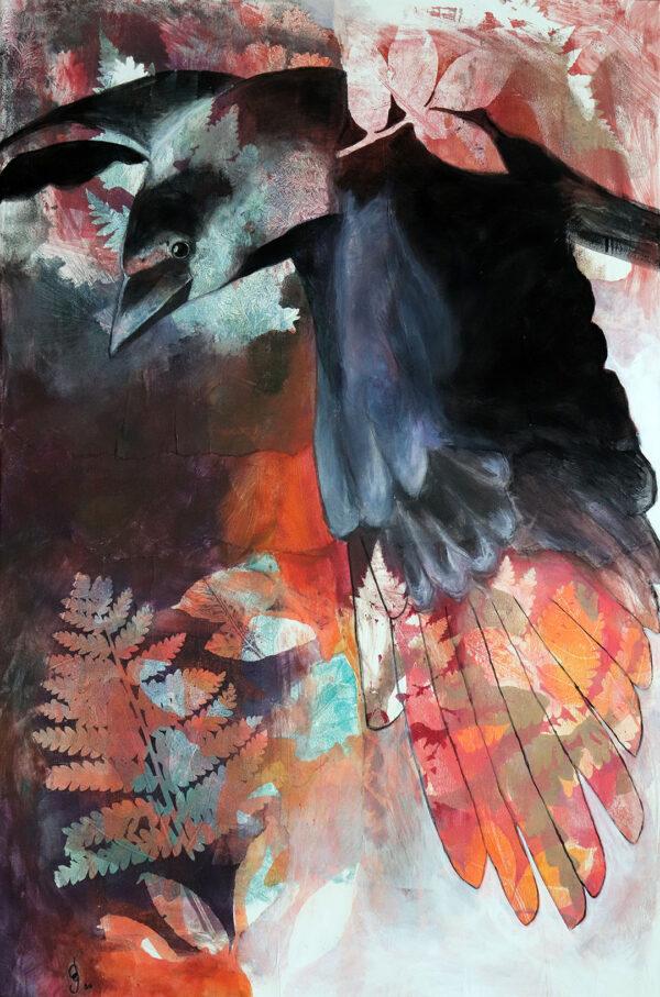 peinture-corneille-envol-artiste-peintre-carine-genadry