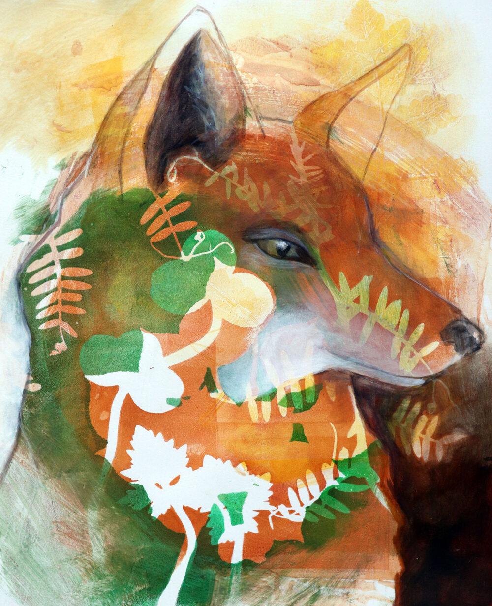 peinture-renard-espiegle-artiste-peintre-carine-genadry