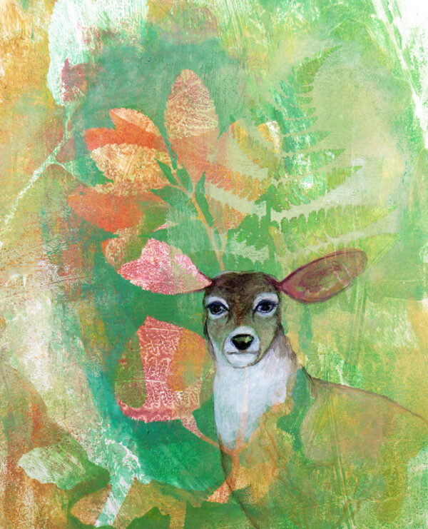 peinture-biche-impression-botanique-aritste-peintre-carine-genadry
