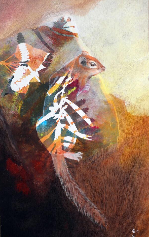 peinture-tamia-rayé-artiste-peintre-carine-genadry