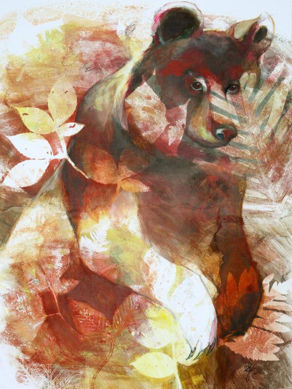 peinture-ours-territoire-artiste-peintre-carine-genadry