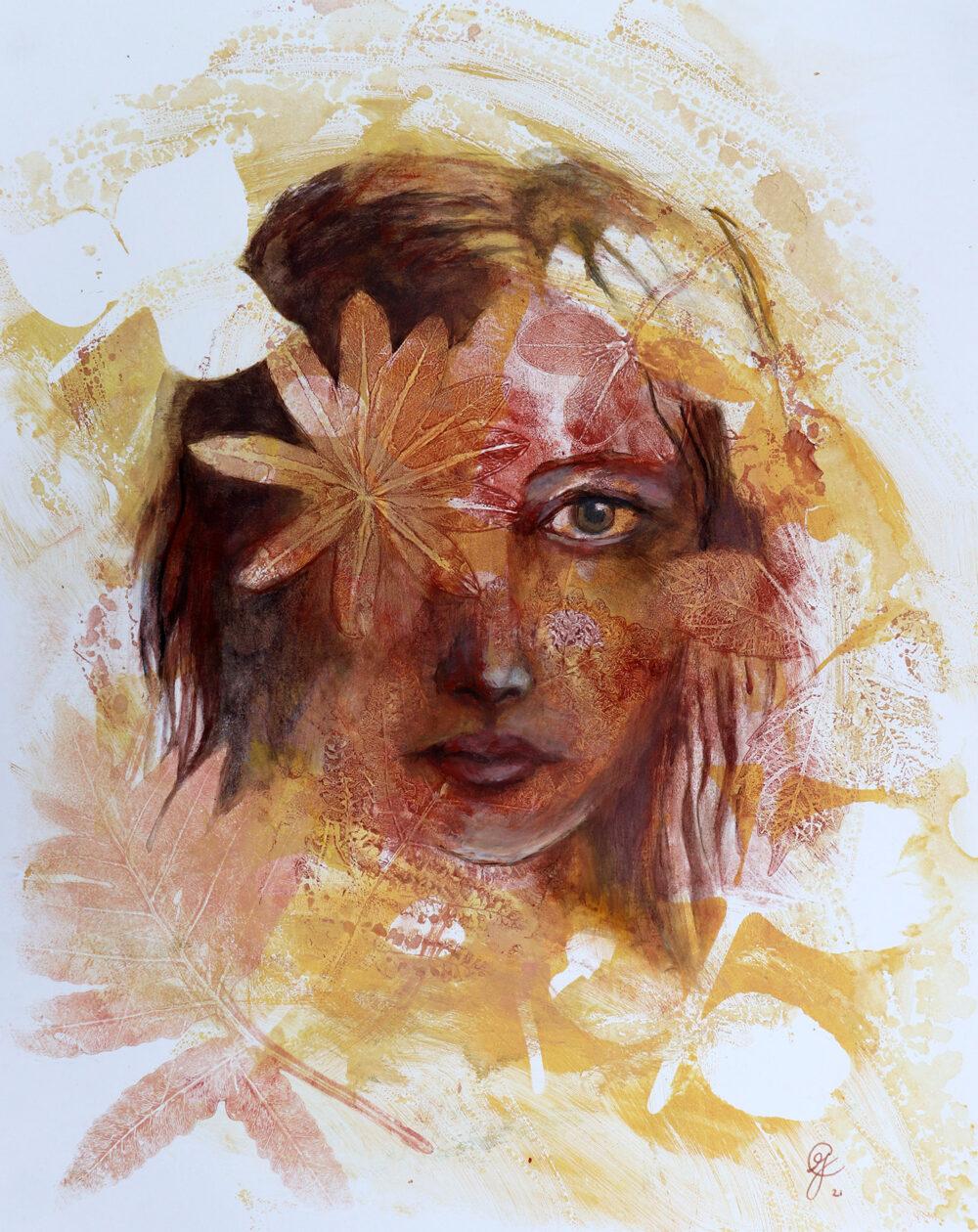 portrait-fille-fleur-artiste-peintre-carine-genadry