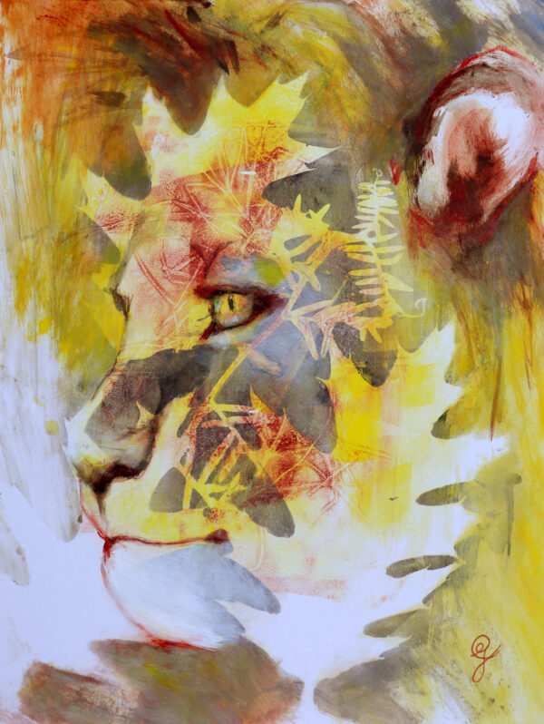 portrait-lion-prince-carine-genadry-artiste-peintre