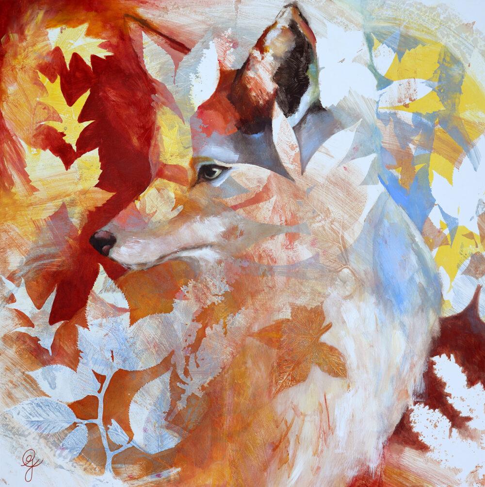 portrait-renard-automne-equinoxe-artiste-peintre-carine-genadry